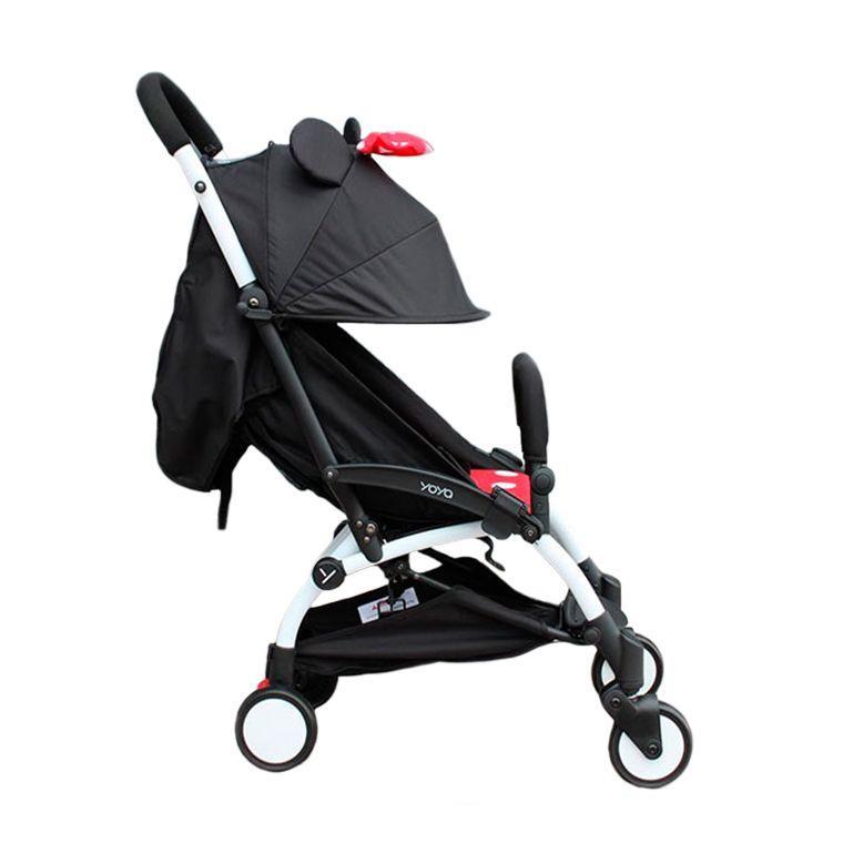 Детская коляска YOYA 175A+ Минни оксфорд белая рама