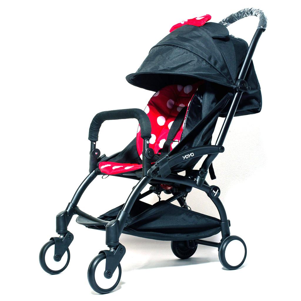 Детская коляска YOYA 175A+ Минни оксфорд черная рама