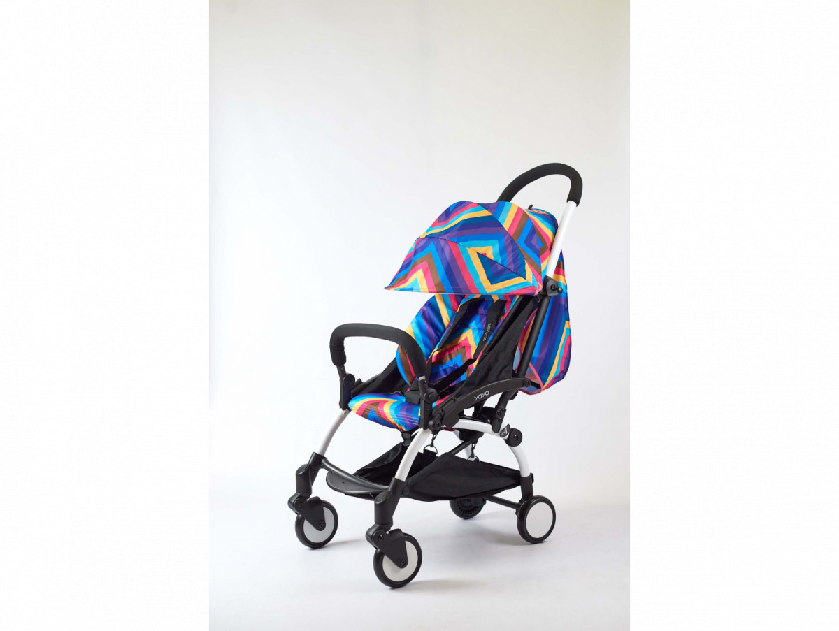 Детская коляска YOYA 175A+ Радуга синяя черная рама