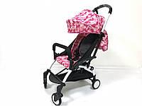 Детская коляска YOYA 175A+ Розовый камуфляж белая рама, фото 1