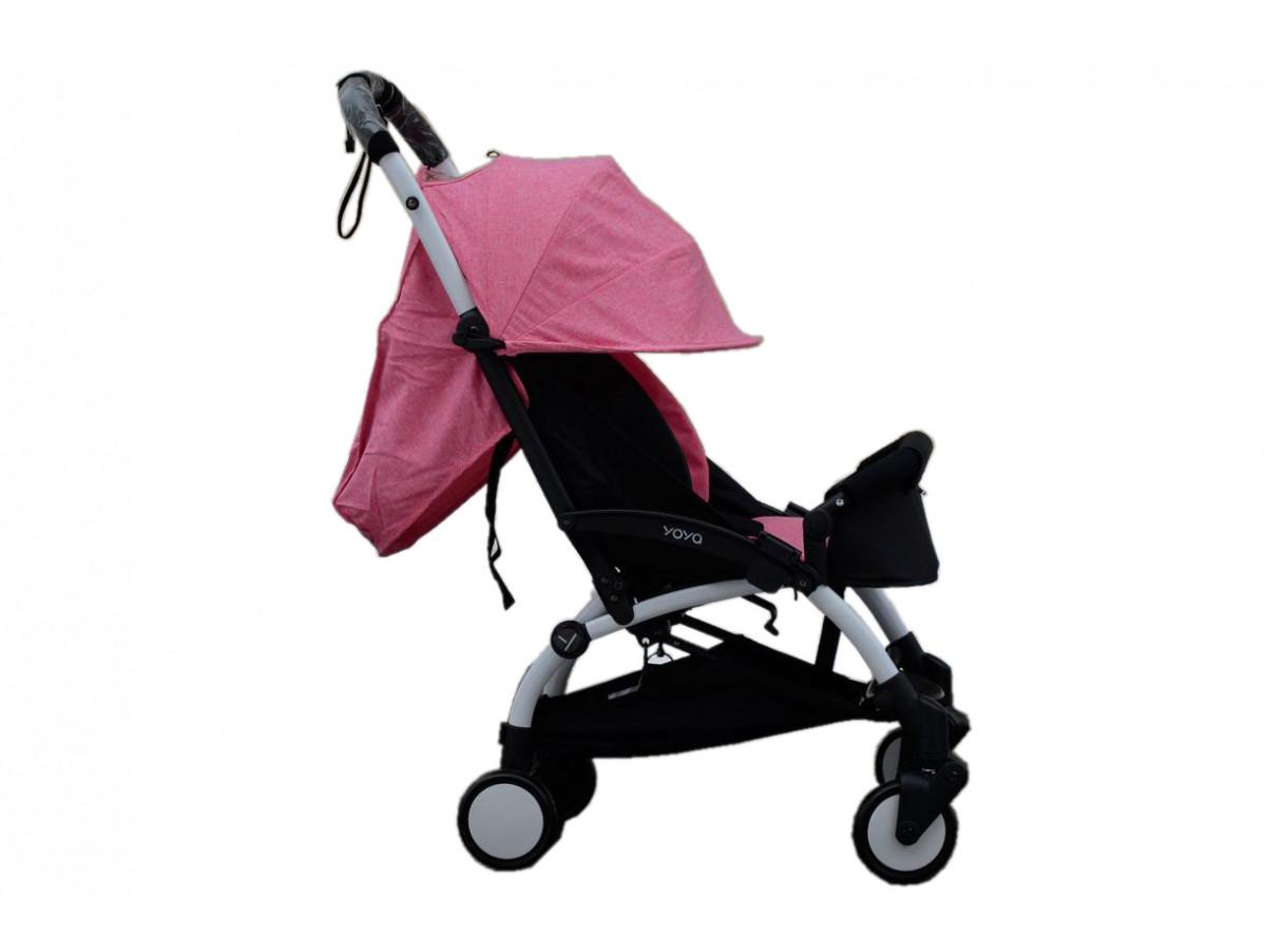 Детская коляска YOYA 175A+ Розовый лен белая рама