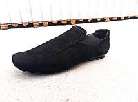 Чоловічі замшеві мокасини-туфлі великі розміри 46-49 р-р, фото 1