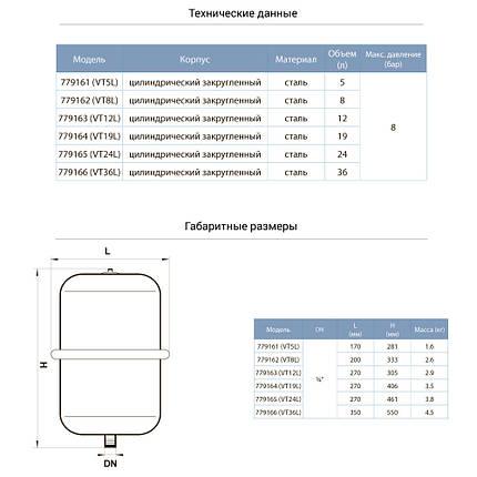 Бак для системы отопления цилиндрический (разборной) 12л AQUATICA (779163), фото 2