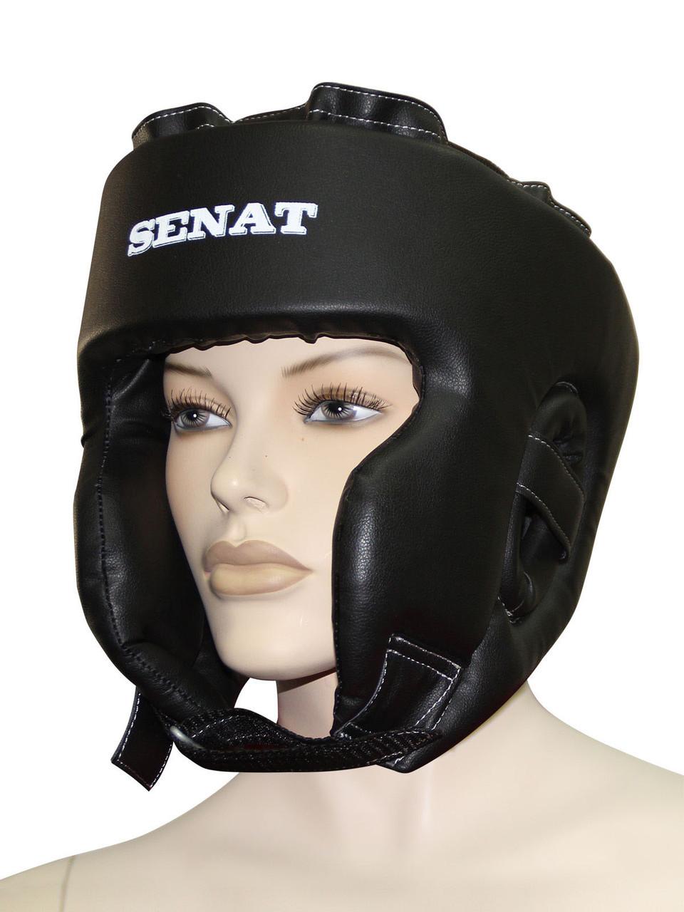 """""""SENAT"""" Шолом боксерський тренувальний, чорній 1710-blk"""