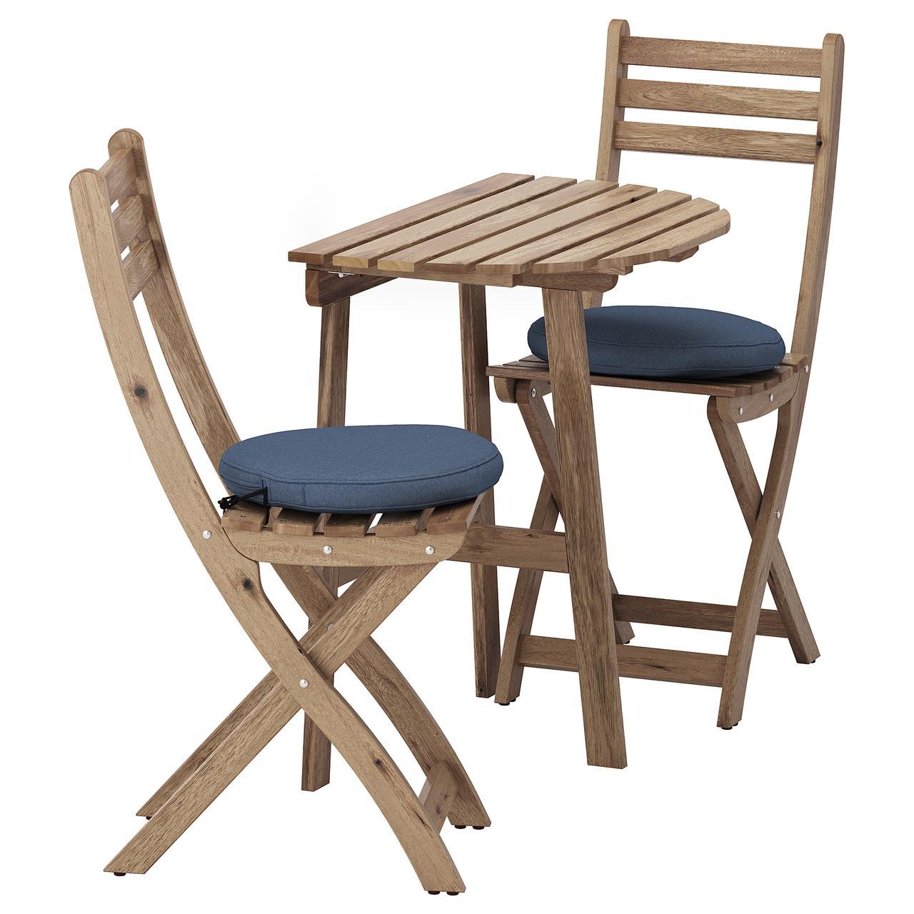 IKEA ASKHOLMEN 892.860.04 Стіл садовий і 2 розкладних крісла