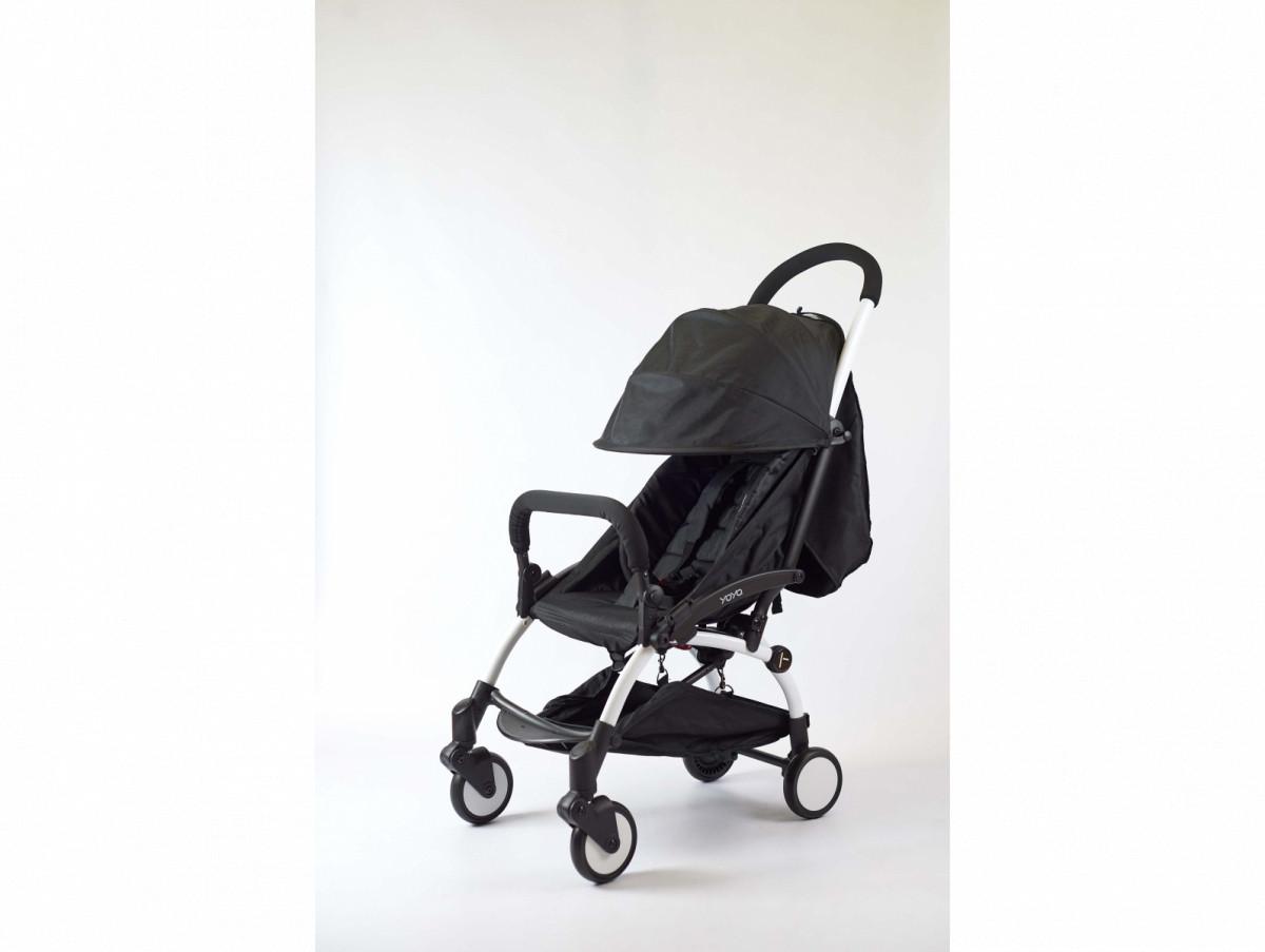 Детская коляска YOYA 175A+ Черный оксфорд белая рама