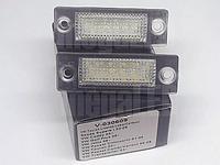 VW Caddy 3 III 03-10 подсветка номера светодиодная LED 2 шт комплект фонарь підсвітка номерного знаку диодная