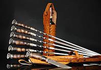 """Авторский подарочный набор для мужчины с шампурами, ножом и винным футляром  """"Men's pleasure"""" (под заказ)"""
