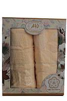 Набор махровых полотенец Турция 2ка (50x90 и 70x140) Персик