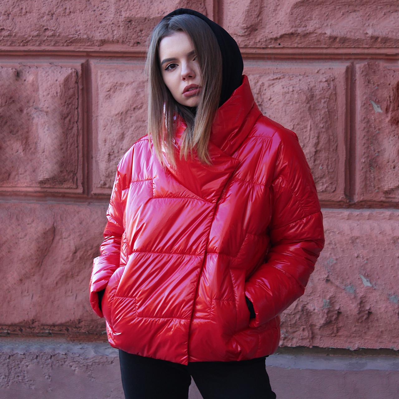 Куртка женская демисезонная Paradigma Puffy Jacket красная  S (до 162см.)