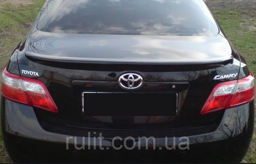 Toyota Camry V40 (2006-2011) Спойлер крышки багажника на багажник Toyota Тойота Camry V40 (2006-2011) (Черный,окрашенный)