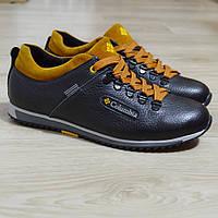 Кросівки чоловічі шкіряні чорні., фото 1