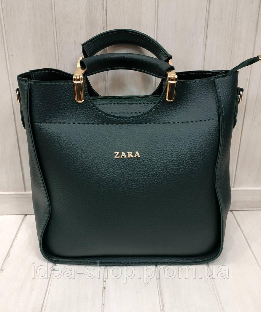 b0c42e57928e Женская сумка ZARA кроссбоди зеленая экокожа - интернет-магазин