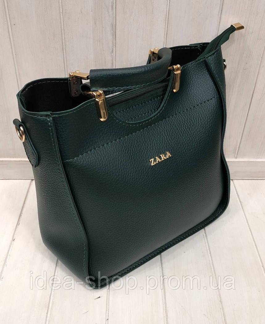 67cdbe075875 Женская сумка ZARA кроссбоди зеленая экокожа , цена 405 грн., купить в  Харькове — Prom.ua (ID#924748146)