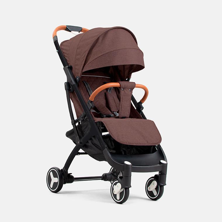 Детская прогулочная коляска YOYA plus 3 Коричневая черная рама