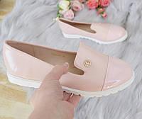 Туфлі низькі рожеві жіночі 38р, фото 1