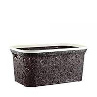 Пластиковая корзина для хранения темно-коричневая Elif plastik 323-5LF