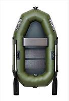Одноместная гребная надувная лодка Омега Ω 190LS из ПВХ, твердый пол , фото 1
