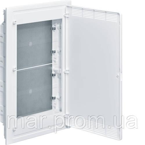 Щит 4-рядный для ММ-оборудования, в / у, белые пластиковые перфорированные двери, GOLF