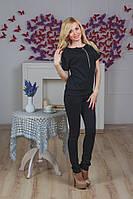Кофта женская с бантом черная, фото 1