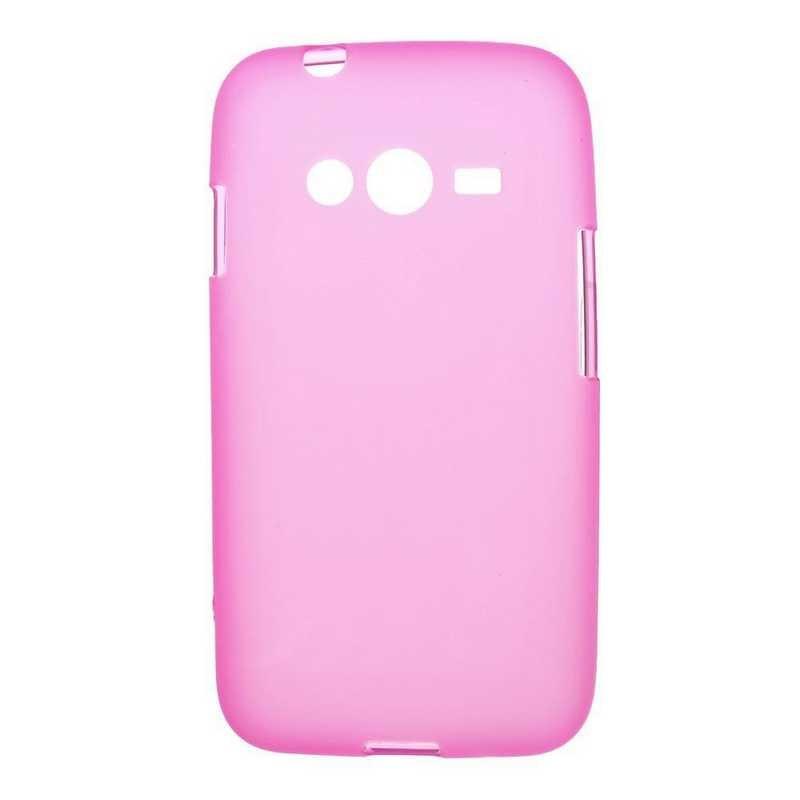 Накладка Samsung G313 Силикон розовая