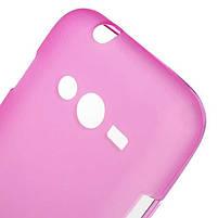 Накладка Samsung G313 Силикон розовая, фото 2