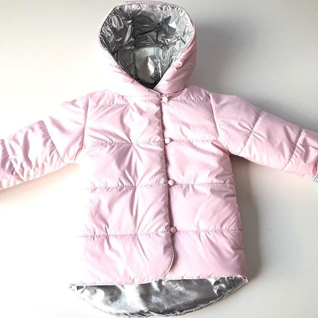 df122fd95ab156 Дитяча рожева демісезонна двостороння куртка для дівчинки -  Інтернет-магазин дитячого одягу