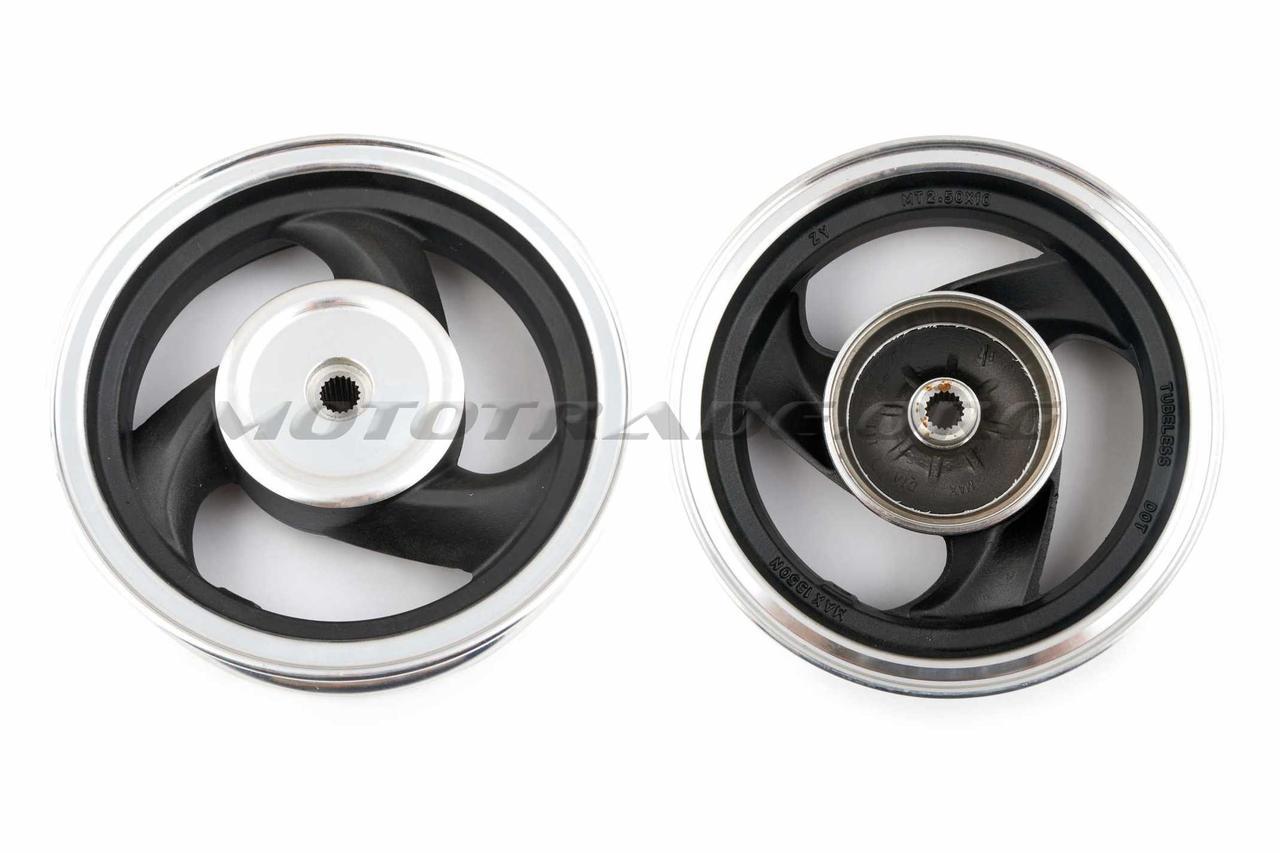 Диск колеса 2,15 * 10 (зад, барабан) (легкосплавный, 19 шлицов) ZY, шт