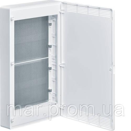 Щит 4-рядный для ММ-оборудование, с / у, белые пластиковые перфорированные двери, GOLF