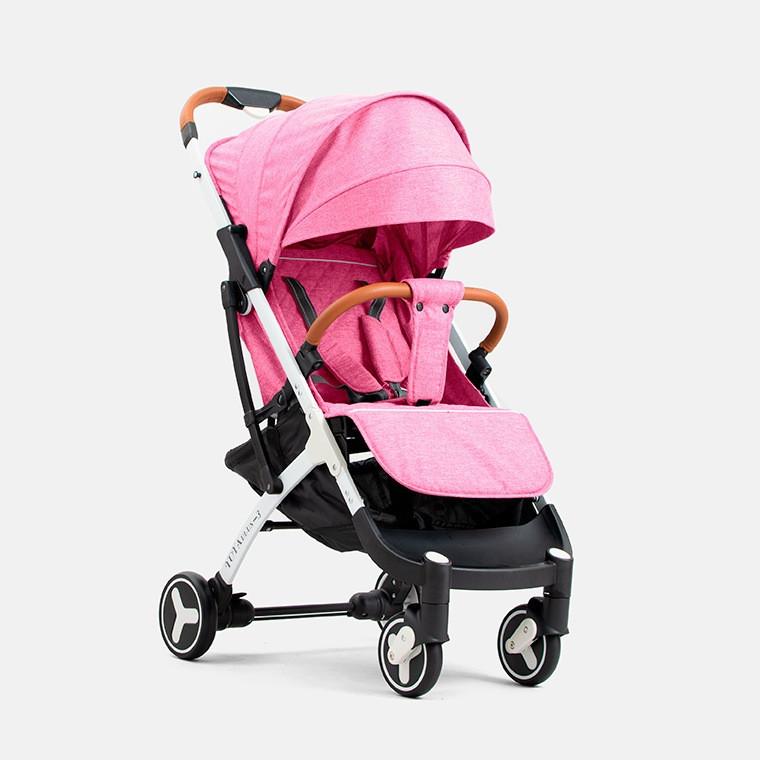Детская прогулочная коляска YOYA plus 3 Розовая белая рама