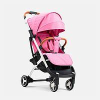 Детская прогулочная коляска YOYA plus 3 Розовая белая рама, фото 1