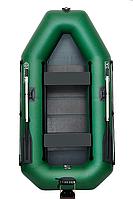 Двухместная гребная надувная лодка Омега (OMEGA) 260LST(PS) твердый пол, регулируемые сиденья, транец