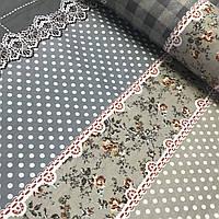 Сатин Люкс Прованс с имитацией лоскутного шитья, ширина 220 см, фото 1