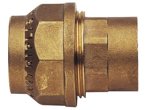"""Фитинг зажимной 32 мм для полиэтиленовой ПНД трубы латунный 1"""" REMER"""