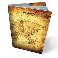 Обложка на паспорт Весь мир в твоих руках кожа