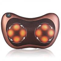 Массажная подушка в автомобиль Massage pillow спины и шеи с инфракрасным подогревом, роликовый массажер, Акция