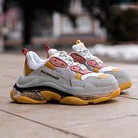 Жіночі кросівки Balenciaga Triple S Yellow, Репліка, фото 1