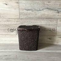 Контейнер для хранения порошка ажурный / 6л / 23 см x 20,5 см x 23,4 см / коричневый