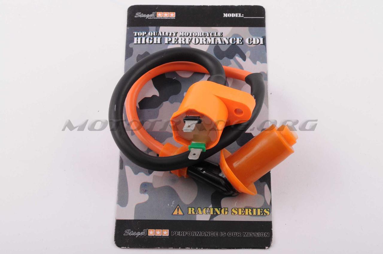 Катушка зажигания (тюнинг)   4T GY6 50-150   (оранжевая)   STAGE-9, шт
