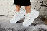 Женские кроссовки Buffalo London Sneakers White. Натуральная кожа, фото 1