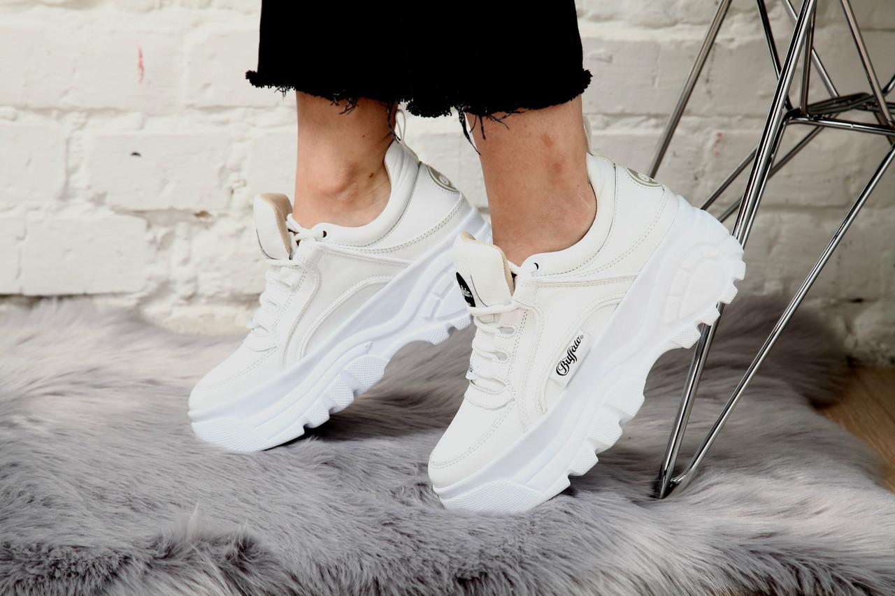 Женские кроссовки Buffalo London Sneakers White. Натуральная кожа