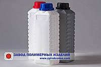 Бутылка полиэтиленовая прямоугольная  K-01 , емкостью 1 литр