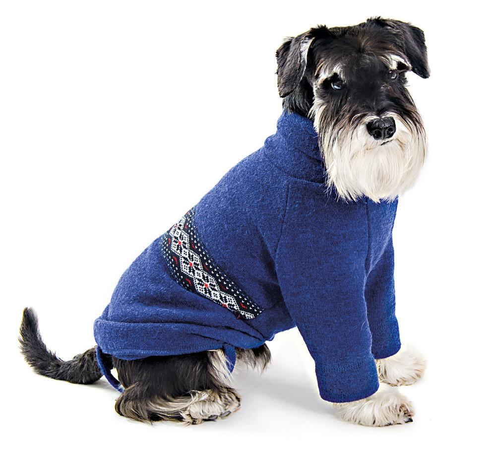 Pet Fashion Свитер Джастин синий/ вишня S