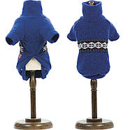 Pet Fashion Свитер Джастин синий/ вишня S, фото 2