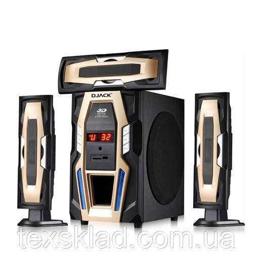 Комплект акустики 3.1 DJACK E-E3L 60W (USB/FM-радио/Bluetooth)