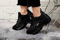 Женские кроссовки Buffalo London Sneakers Black. Натуральная кожа, фото 1
