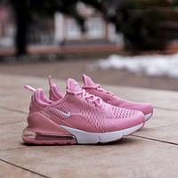 Женские кроссовки Air Max 270 Pink, Реплика, фото 1