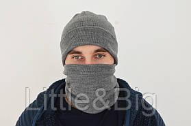 Шапка мужская зимняя + Баф