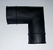 Соединитель г-образный для трубы ПВХ 22*22 мм.