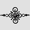 """Настенные 3D часы с зеркальным эффектом """"Круги"""", фото 2"""